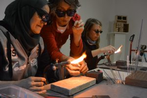 New grant to teach glassblowing art
